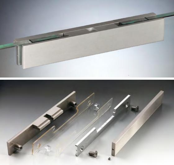 Pinze per porte scorrevoli 170 alluminio con cover CERPOS170COV®