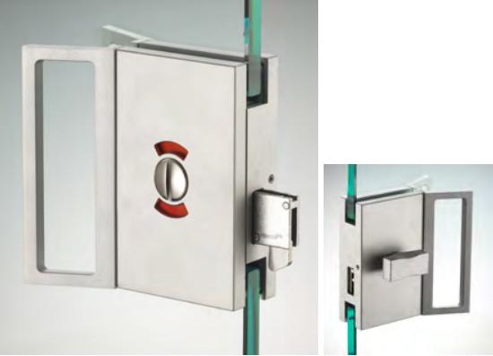 Chiusura di riservatezza serie hd square libero/occupato con maniglia ante scorrevoli DQS21®