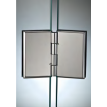 Cerniera 33 ribaltabile vetro/vetro - in linea CER33®