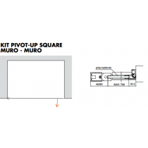Kit pivot-up square muro - muro PTUPSQ205®