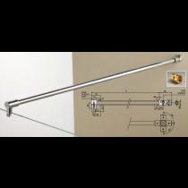 Asta di sicurezza snodata muro / vetro MF9812®