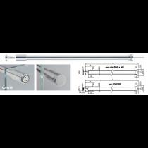 Asta sicurezza muro / vetro con vite di fissaggio ø30 mm o cofis20 MF0941®