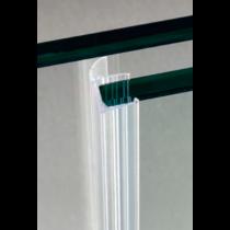 Guarnizione per pareti doccia con aletta laterale per vetri 10/12 mm GM40®