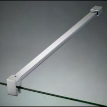 Asta di sicurezza muro/vetro con attacco a parete fisso e morsetto basso DQT®