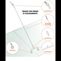 Kit tirante con perno di collegamento Pensilina Glass Canopy GC-PERN155-355®