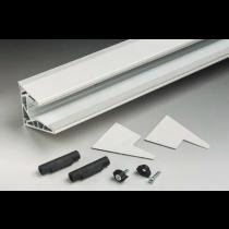 Kit per pensilina a sbalzo senza tiranti per lastre in vetro senza lavorazioni La Pensilina PENKIT10-30®