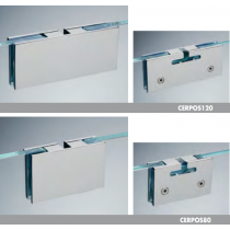 Pinze per porte scorrevoli 120 / 80 ottone CERPOS120-80®