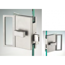 Chiusura serie hd square doppio pomello con maniglia ante scorrevoli DQS23®