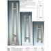 Maniglia LM® alluminio doppia quadra per porte in vetro