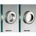Maniglia MAT63® tonda 60 incasso inox smusso per porte in vetro