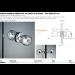 Coppia pomelli protettivi all'urto in ottone / pvc Ø30x45 mm POMPVC