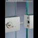 Chiusure serie 200 senza fori sul vetro chiusura con serratura serie 200 con maniglia CLKM27