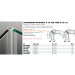 Guarnizioni pareti doccia guarnizione magnetica a 45° per vetri 8/10 mm GM15