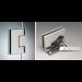 Cerniera laterale serie hd square small regolabile per vetri 6/8 mm DQ30COV