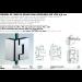 Cerniera 90° serie hd square small regolabile per vetri 6/8 mm DQ390