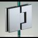 Cerniera in linea serie hd square small regolabile per vetri 6/8 mm DQ380