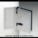 Cerniera con piastra a parete 135° serie hd square small regolabile per vetri 6/8 mm DQ375