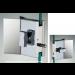 Chiusura con pomello/pomello serie square small con maniglia per vetri 6/8 mm DQC37