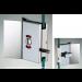 Chiusura di riservatezza libero/occupato serie hd square small con maniglia per vetri 6/8 mm DQC39
