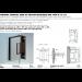 Cerniera centrale serie hd square regolabile per vetri 8/12 mm DQ42