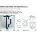 Cerniera 90° serie hd square regolabile per vetri 8/12 mm DQ490