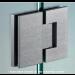 Cerniera in linea serie hd square regolabile per vetri 8/12 mm DQ480