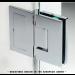 Cerniera con piastra a parete in linea serie hd square regolabile per vetri 8/12 mm DQ475