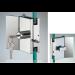 Chiusura con pomello/serratura serie hd square con maniglia per vetri 10/12 mm DQC53