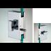 Chiusura con pomello/pomello serie hd square per vetri 10/12 mm DQC55