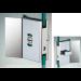 Chiusura di riservatezza libero/occupato serie hd square con maniglia per vetri 10/12 mm DQC59