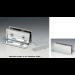 Morsetto muro/vetro 80x28 mm con fori asolati serie hd square per vetri 6/12 mm DQM11
