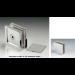 Morsetto muro/vetro 2 serie hd square per vetri 6/12 mm DQM43