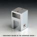 Attacco vetro in linea passante con morsetto fisso serie hd square DQA83