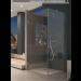 Cerniera con copertina serie hd small regolabile laterale per vetri 6/8 mm CHD10