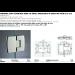 Cerniera con copertina serie hd small regolabile in linea per vetri 6/8 mm CHD180