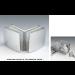 Morsetto vetro/vetro 90° 51x45 mm serie hd per vetri 6/12 mm CHDM47