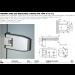 Cerniera serie 600 regolabile laterale per vetri 8/12 mm S600