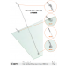 Kit tirante con attacco a parete Pensilina Glass Canopy Light GC-CAV15