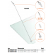 Kit tirante Pensilina Glass Canopy GC-SNOD1100-1300