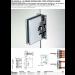 Cerniera centrale muro/vetro automatica square DQMATIQUE66-44