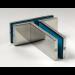 Accessorio di raccordo tra vetro fisso e controventatura GF710
