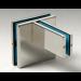 Accessorio di raccordo più vetri fissi e controventatura GF810