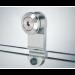 Fermo porta con borchia attacco vetro FPT07
