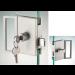 Serratura serie hd square serratura/pomello con maniglia ante scorrevoli DQS25